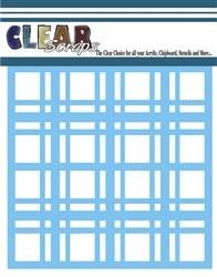 Clear Scraps 12x12 Stencil- Plaid