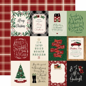A Cozy Christmas 12x12 Paper- 3x4 Cards