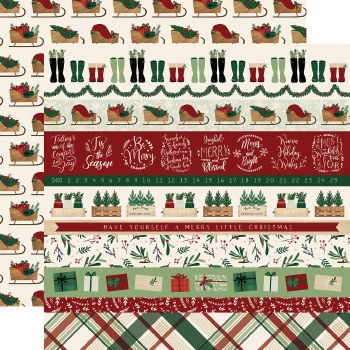 A Cozy Christmas 12x12 Paper- Border Strips