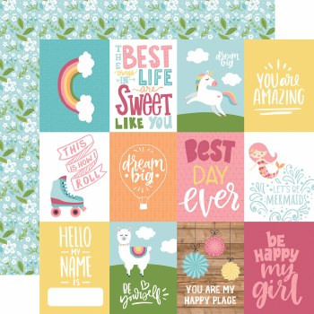 All Girl 12x12 Paper- 3x4 Cards