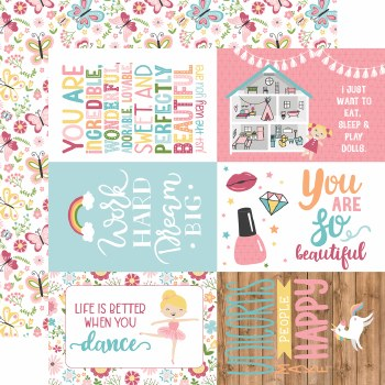 All Girl 12x12 Paper- 4x6 Cards
