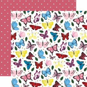 Alice in Wonderland 12x12 Paper- Butterflies
