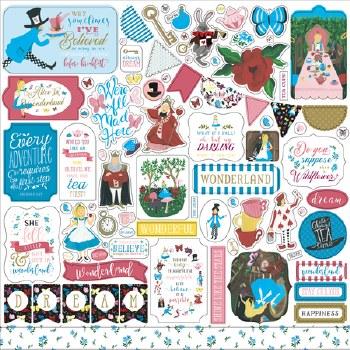Alice in Wonderland 2 Sticker Sheet