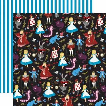Alice in Wonderland 12x12 Paper- Tea Party