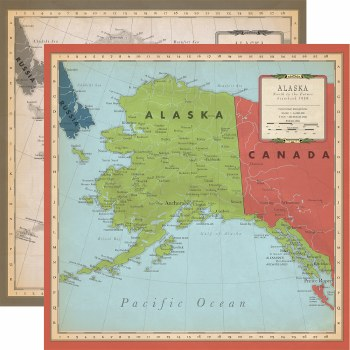 Cartography No.2 12x12 Paper- Alaska
