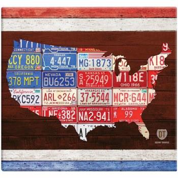 MBI 12x12 Postbound Scrapbook- American Liscense Plates