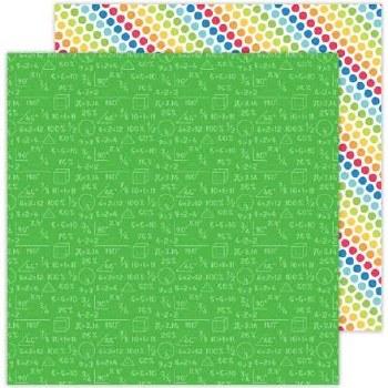 School Days Doodlebug 12x12 Paper- Arithmetic
