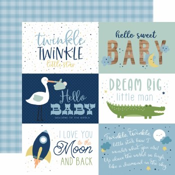 Baby Boy 12x12 Paper- 6x4 Cards