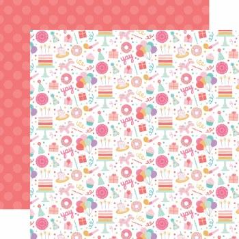 It's Your Birthday Girl 12x12 Paper- Fun