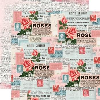 Simple Vintage: My Valentine 12x12 Paper- Be Mine