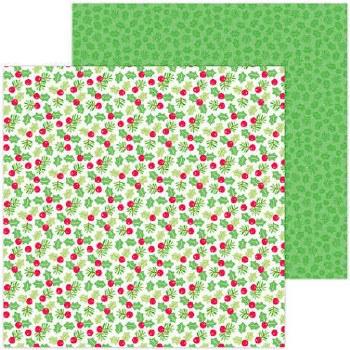 Christmas Magic 12x12 Paper- Berry Merry