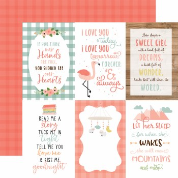 Baby Girl 12x12 Paper- 4x6 Cards