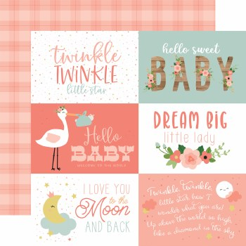 Baby Girl 12x12 Paper- 6x4 Cards