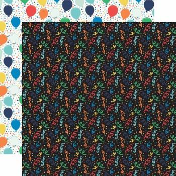 It's Your Birthday Boy 12x12 Paper- Confetti
