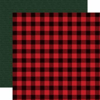 Christmas Market 12x12 Paper- Buffalo Plaid