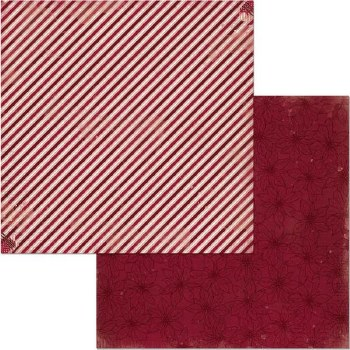 Christmas Treasures 12x12 Paper- Candy Cane