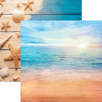 All Inclusive Vacation 12x12 Paper- Caribbean Beach