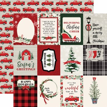 Christmas Market 12x12 Paper- 3x4 Cards