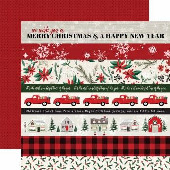 Christmas Market 12x12 Paper- Borders