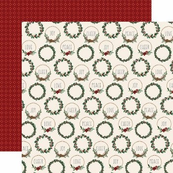 A Cozy Christmas 12x12 Paper- Chistmas Cheer