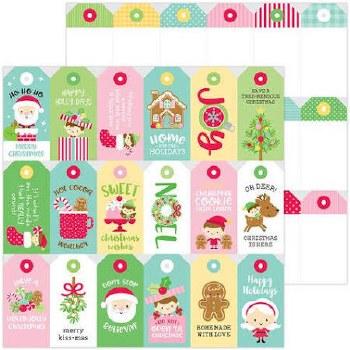 Christmas Magic 12x12 Paper- Christmas Tags