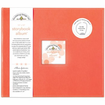 Doodlebug 12x12 Storybook 3-Ring Album- Coral