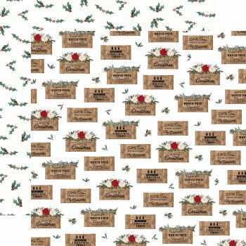 Farmhouse Christmas 12x12 Paper- Crates
