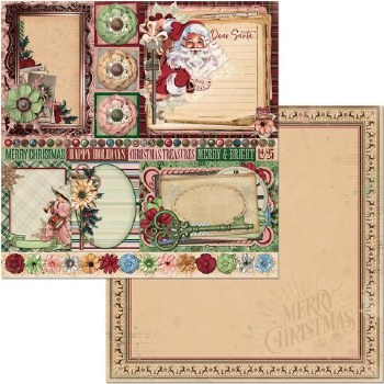Christmas Treasures 12x12 Paper- Dear Santa
