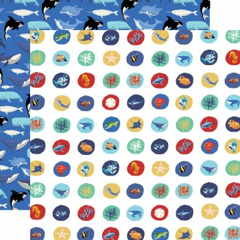 Fish are Friends 12x12 Paper- Deep Sea Circles