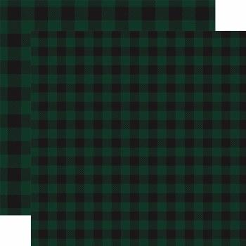 Buffalo Plaid 12x12 Paper- Dark Green