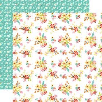 Easter Wishes 12x12 Paper- Easter Flowers