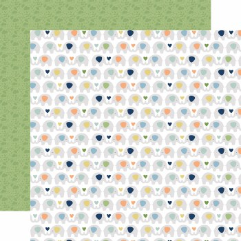 Baby Boy 12x12 Paper- Elephants