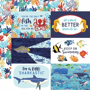 Fish are Friends 12x12 Paper- 4x6 Cards