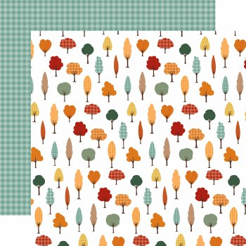 Happy Fall 12x12 Paper- Fall Forest