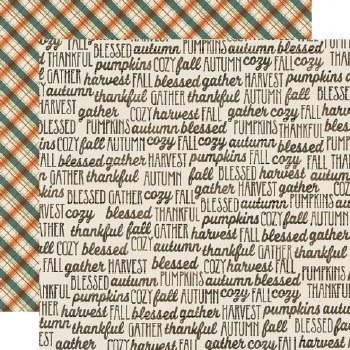 Fall Farmhouse 12x12 Paper- Fall Memories