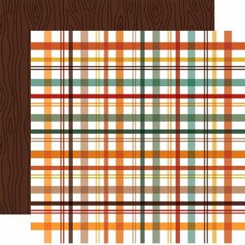 Happy Fall 12x12 Paper- Fall Picnic Plaid