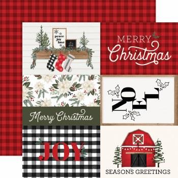 Farmhouse Christmas 12x12 Paper- 4x6 Cards