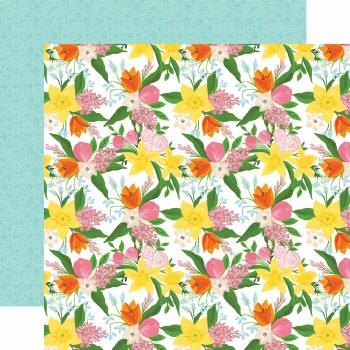 I Love Spring 12x12 Paper- Fresh Cut Flowers