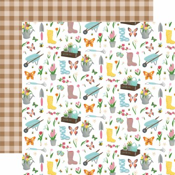 I Love Spring 12x12 Paper- Garden Party