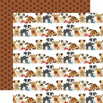 I Love My Dog 12x12 Paper- Go Fetch