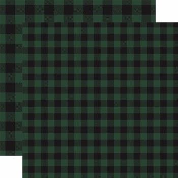 Buffalo Plaid 12x12 Paper- Green