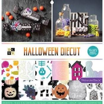 12x12 DCWV Paper Stack- Halloween Diecut