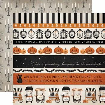 Halloween Market 12x12 Paper- Border Strips