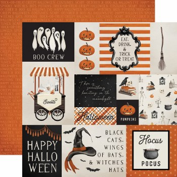 Halloween Market 12x12 Paper- Multi Cards
