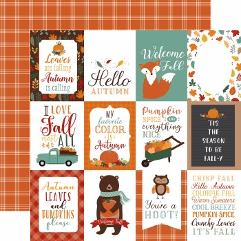 Happy Fall 12x12 Paper- 3x4 Cards