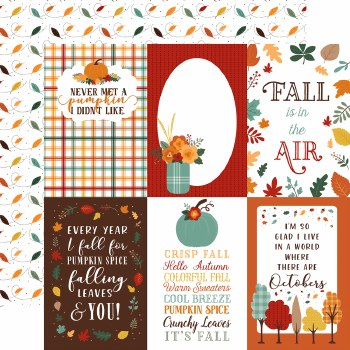 Happy Fall 12x12 Paper- 4x6 Cards