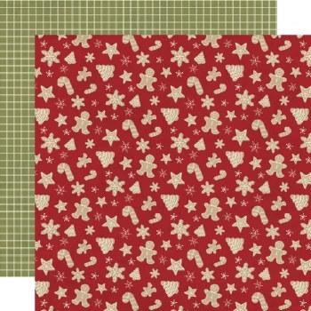 Holly Jolly 12x12 Paper- Happy Holidays