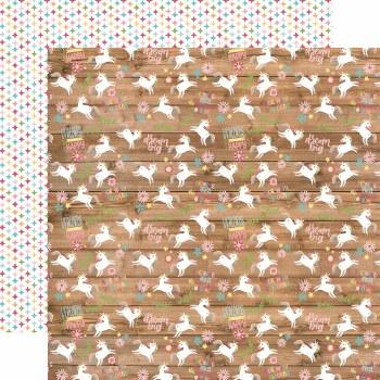 All Girl 12x12 Paper- Happy Unicorns