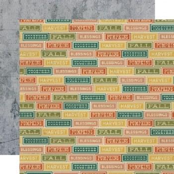 Fall Farmhouse 12x12 Paper- Harvesting Love