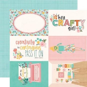 Hey Crafty Girl 12x12 Paper- 4x6 Elements